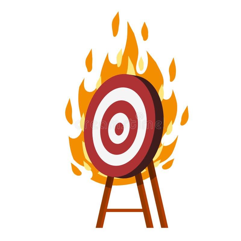 Destino para setas objetivo de flaming vermelho e branco ilustração royalty free