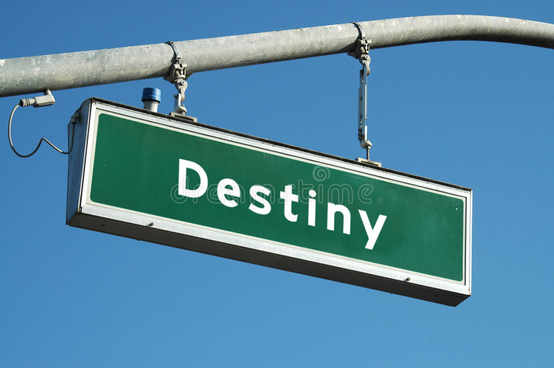 Destiny sign stock images