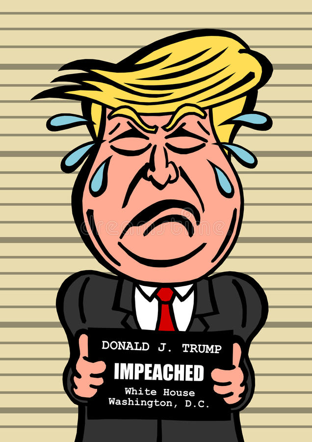 Destituição de Donald Trump ilustração do vetor