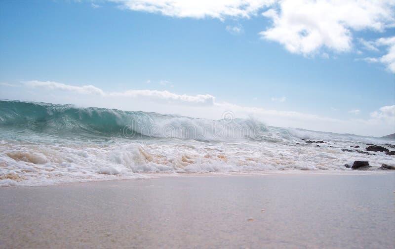 Destra di Sandys della rottura della spiaggia fotografia stock libera da diritti