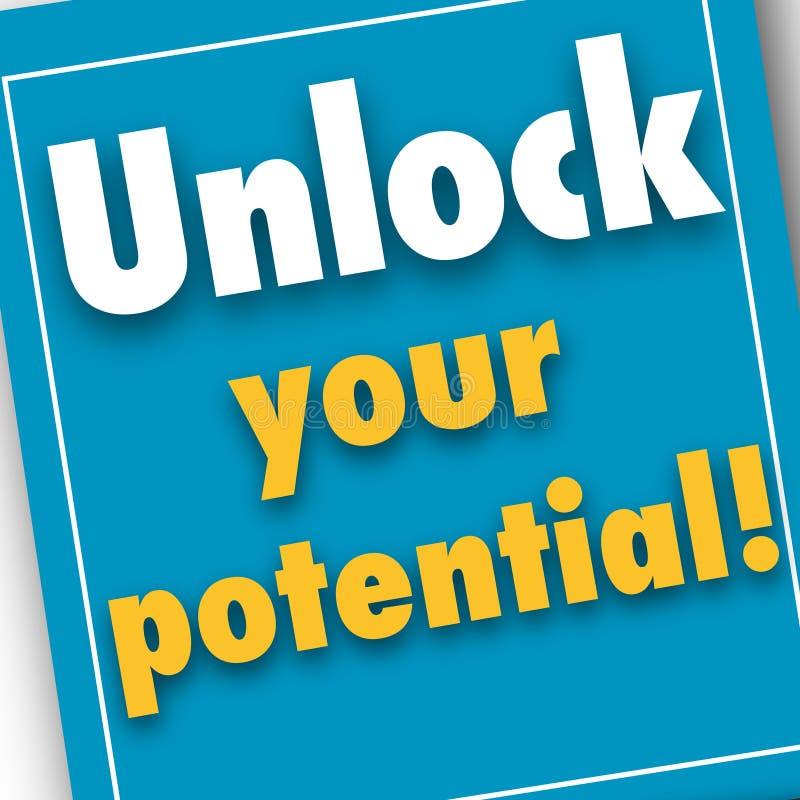 Destrave seu potencial, cartaz da imagem do negócio, qualidade super ilustração stock