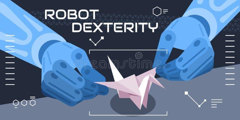 Destreza colorida do robô da exibição da ilustração do vetor, fantasia ilustração do vetor