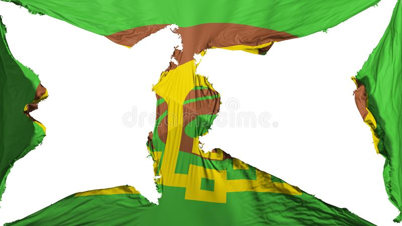 Destroyed Amman flag royalty free stock photography