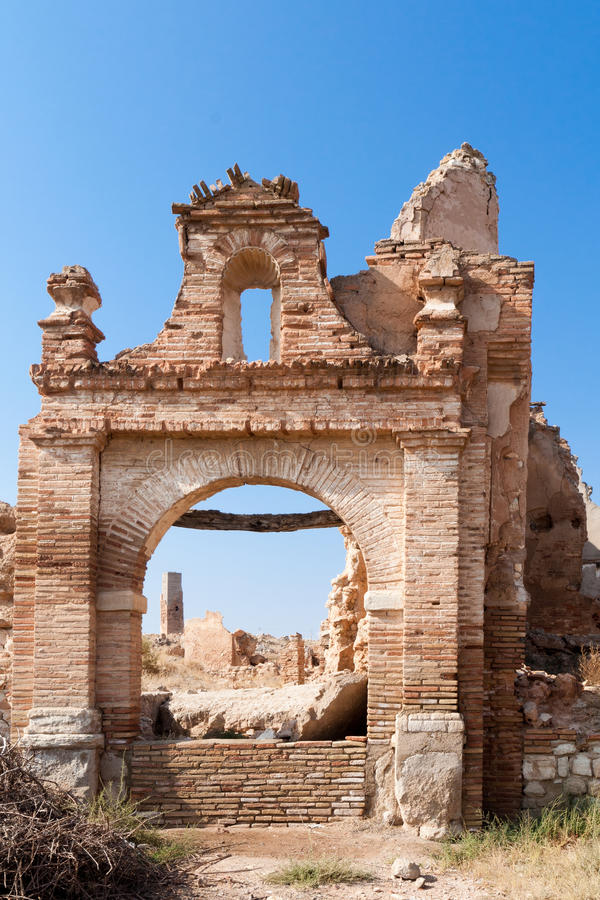 Destroyed arch royalty free stock image