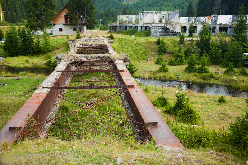 Download Destroyed bridge and city stock image. Image of access - 31520745