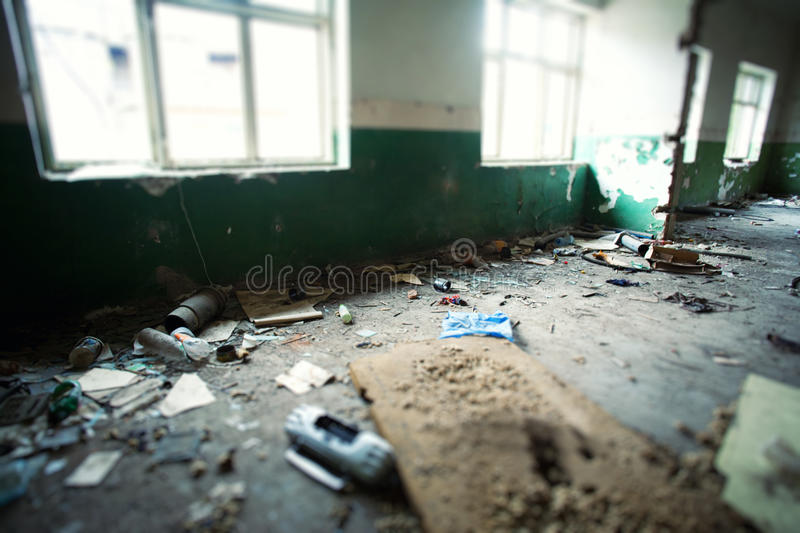 Destroyed building royalty free stock images