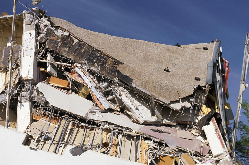 Destroyed building stock images