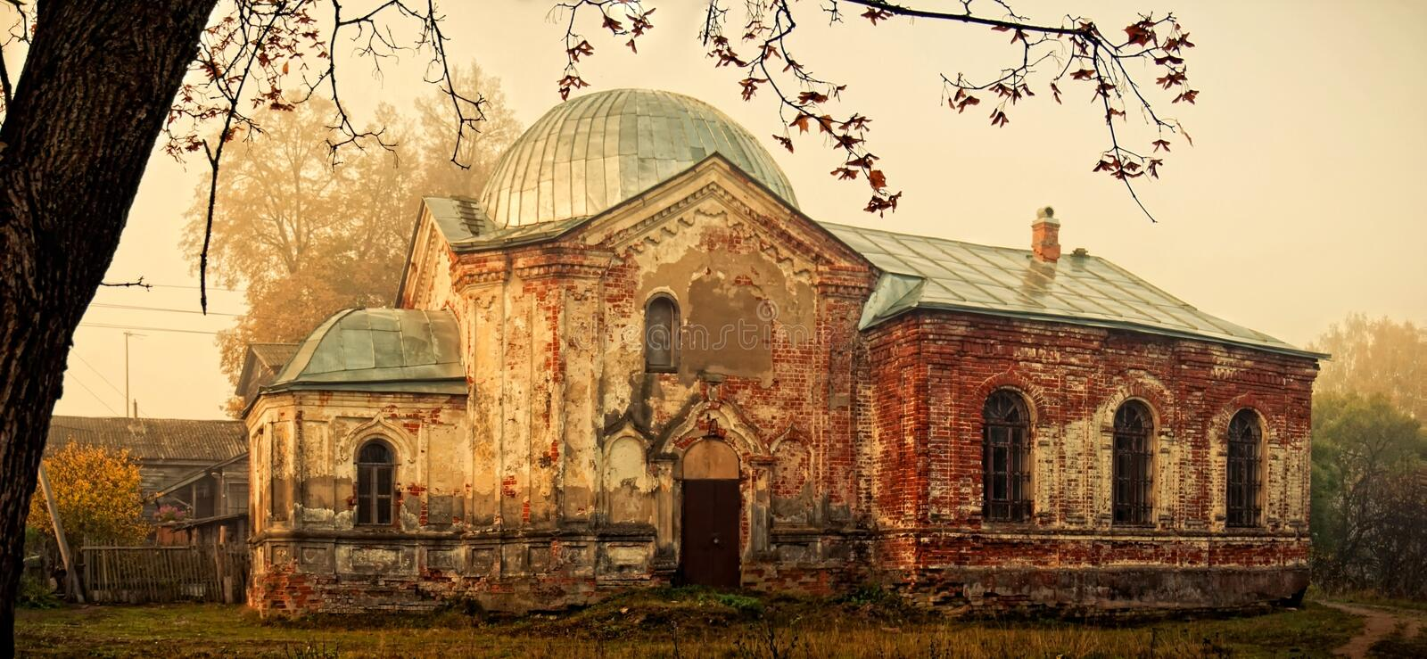Destroyed church royalty free stock images