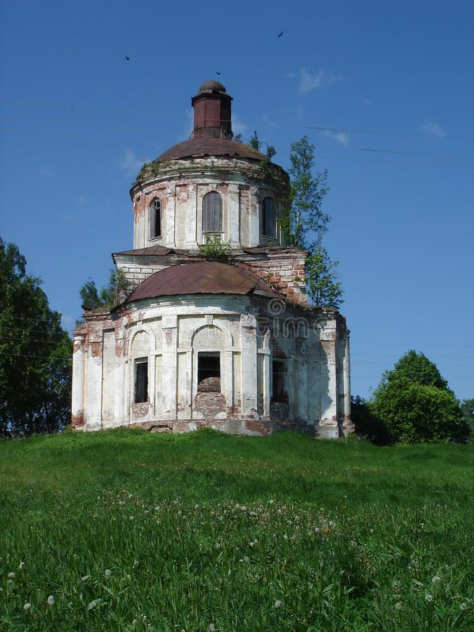 destroyed church in Russia
