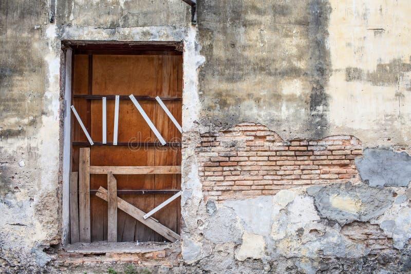 Destroyed door stock photo