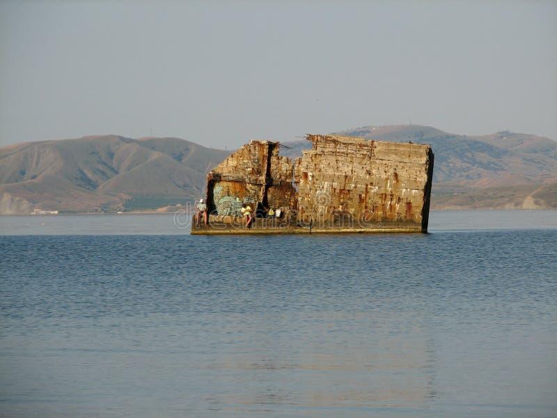 Destroyed pier stock photos