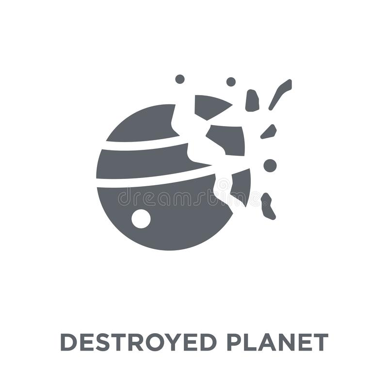 Destroyed planet icon from Astronomy collection. vector illustration