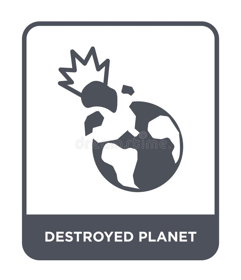 destroyed planet icon in trendy design style. destroyed planet icon isolated on white background. destroyed planet vector icon vector illustration
