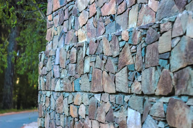 Destroyed red brick wall royalty free stock image