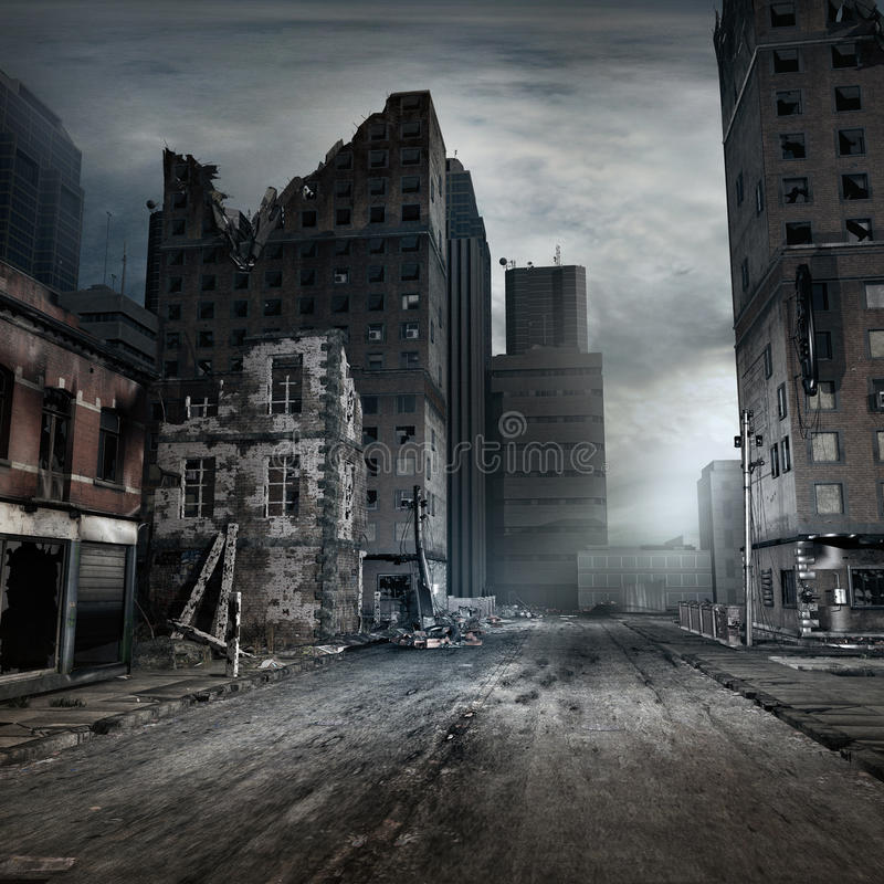 Free Destroyed Tenement House Stock Images - 58339444