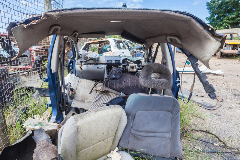 Download Destroyed Vehicle Half Scrap Stock Image - Image of yard, image: 29582035