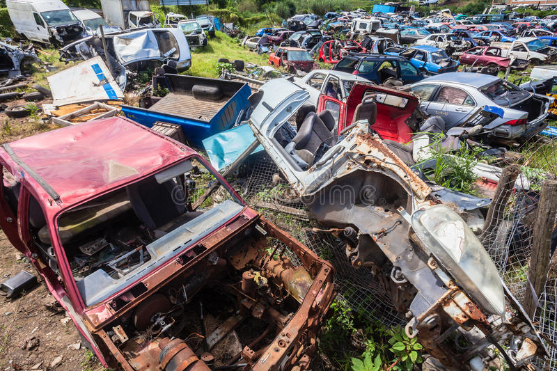 Download Destroyed Vehicles Crash Scrap Editorial Stock Image - Image: 29582214