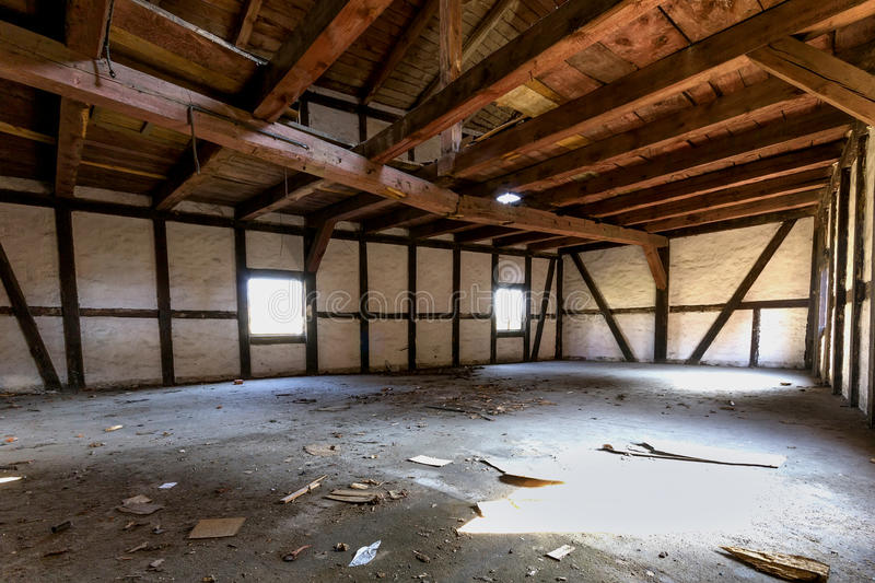Destroyed warehouse royalty free stock photography