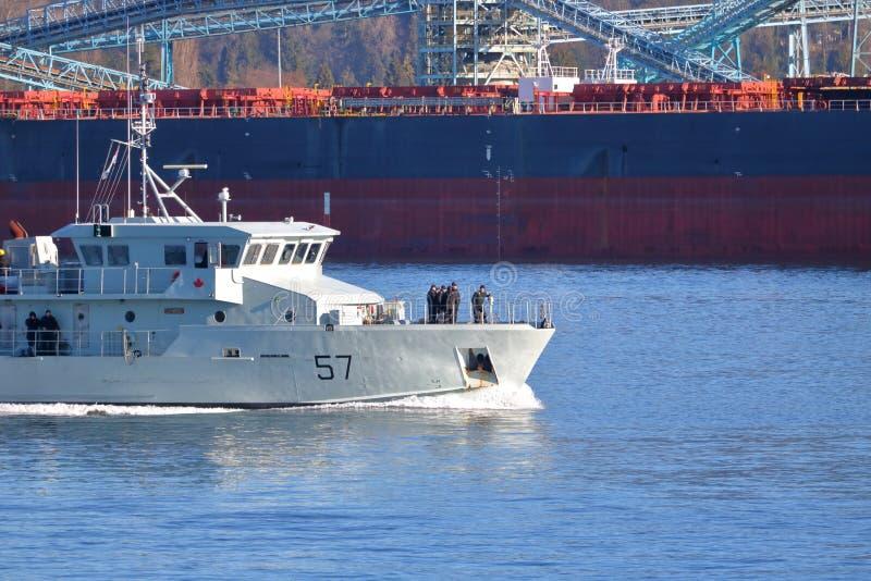 Destroyer canadien HMCS 57 image libre de droits