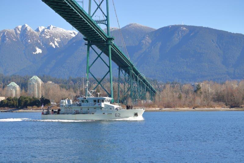 Destroyer de forces navales du Canada à Vancouver, Canada image stock