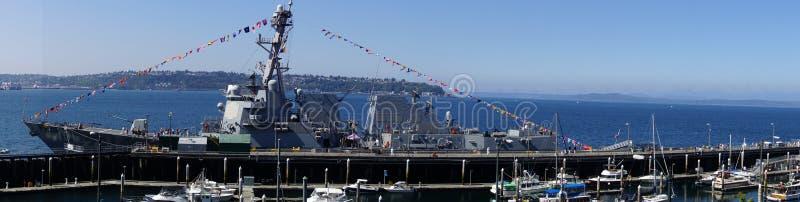 Destroyer de missile guidé d'USS Gridley images libres de droits