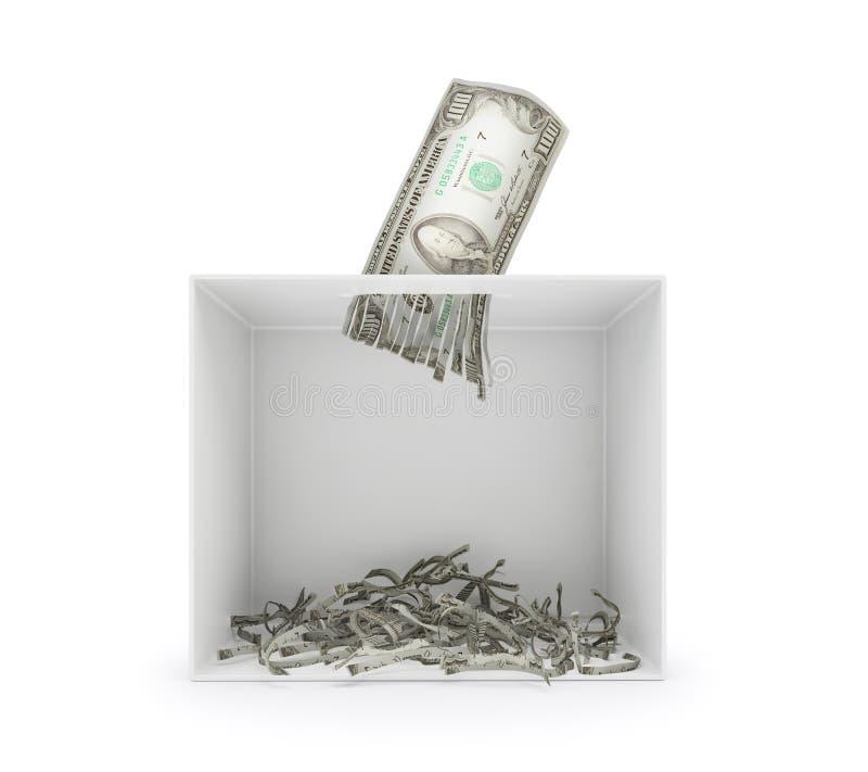 Destrozo del billete de dólar fotos de archivo libres de regalías