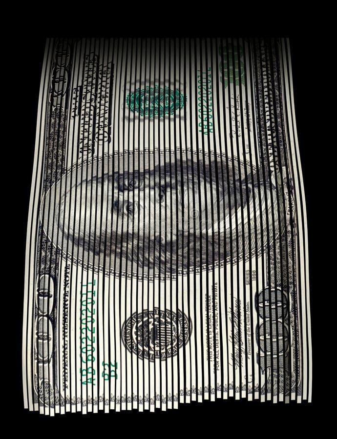 Destrozo del dinero ilustración del vector