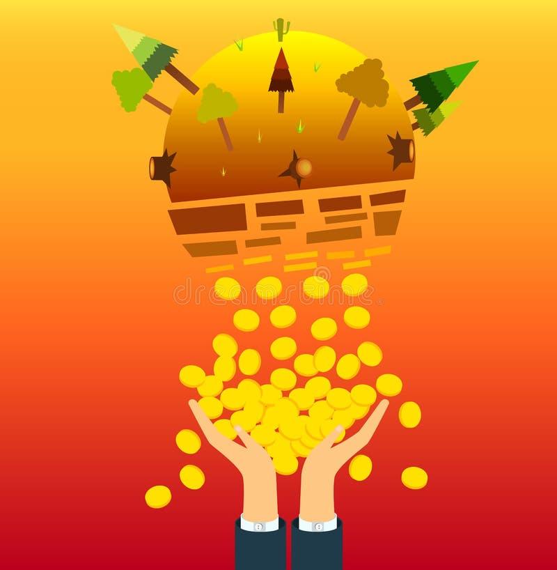 Destrua o mundo imagem de stock royalty free