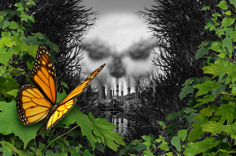 Destrucción ambiental del hábitat libre illustration