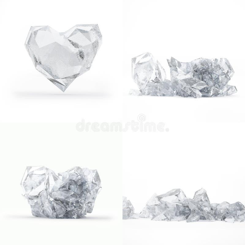 Destrucción Del Corazón Congelado Fotografía de archivo libre de regalías