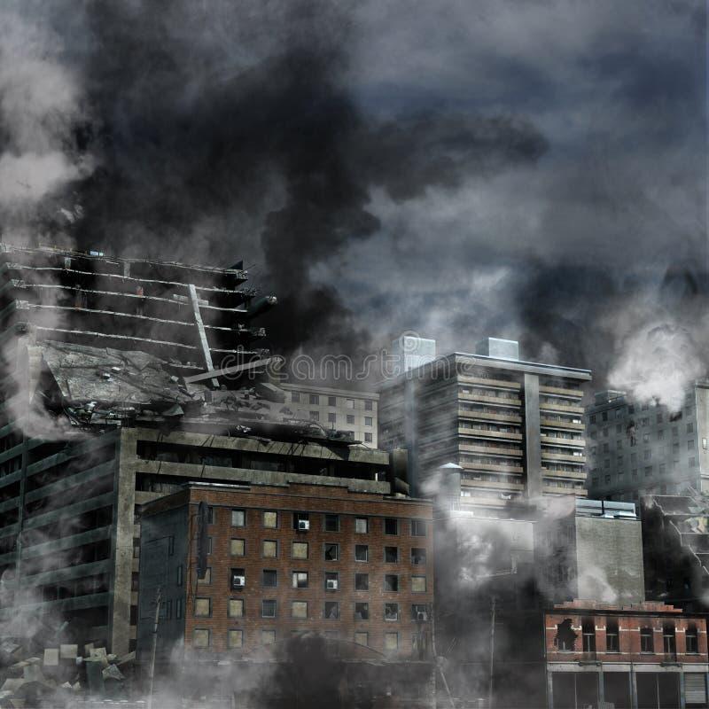 Destrucción urbana ilustración del vector