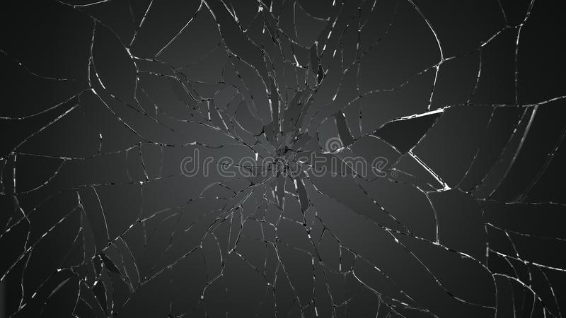 Destructed or broken glass on white. Large resolution stock photo