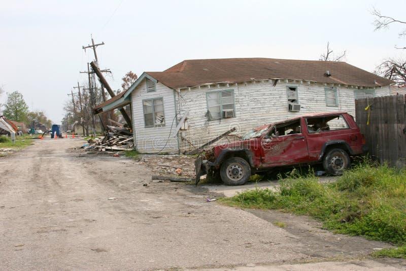 Destruction de Katrina d'ouragan photos stock