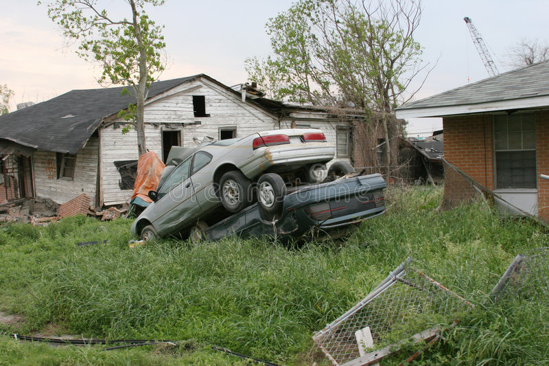 Destruction de Katrina d'ouragan photographie stock libre de droits