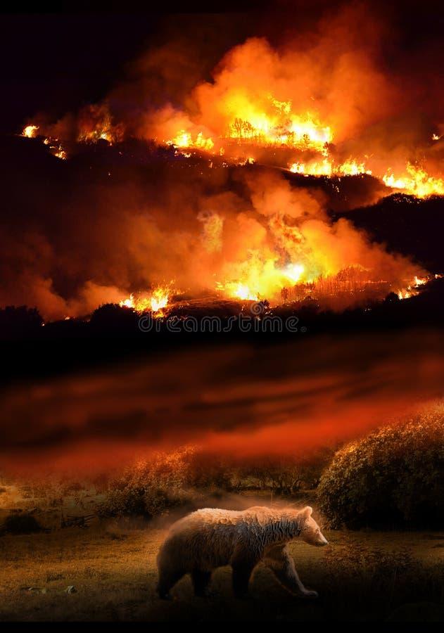 Destruction de nature image stock