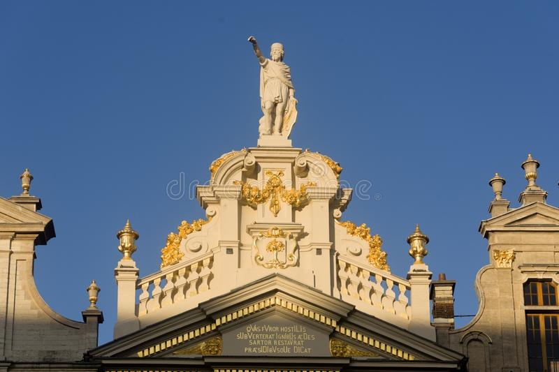 Belgium Brussels The `Maison de la Chaloupe d`Or` was the home of the corporation of tailors. stock image