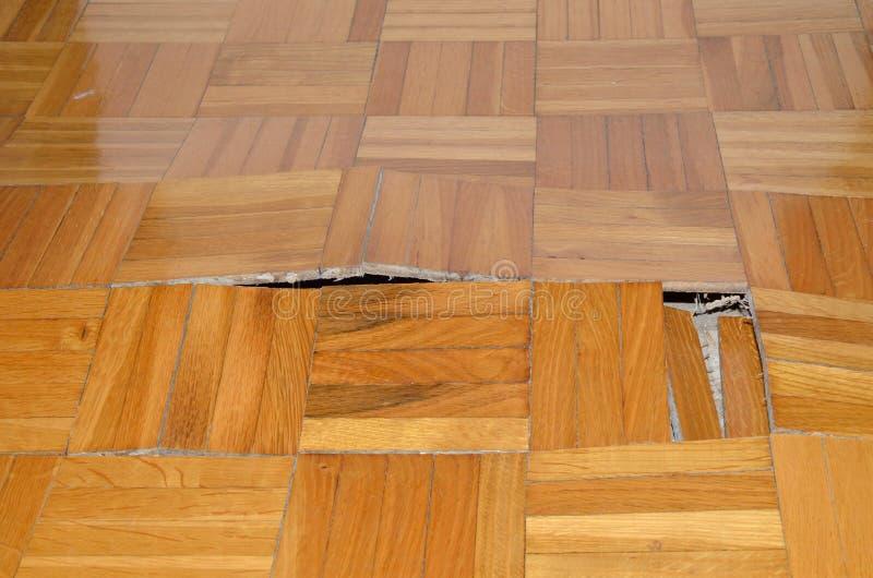 Destruction Of Parquet In Apartment Stock Photo Image Of Demolish