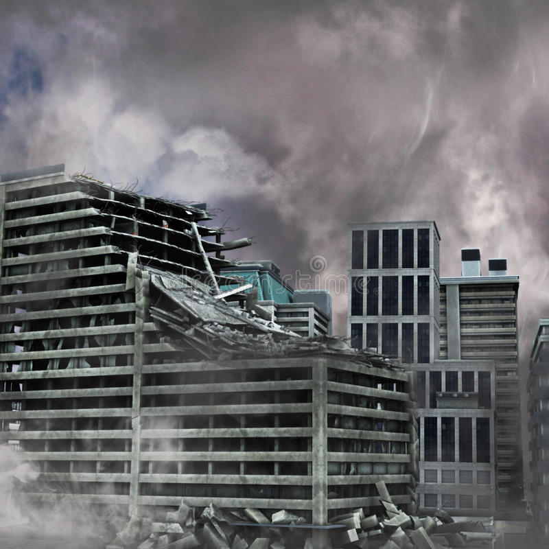 Destruction urbaine photo stock