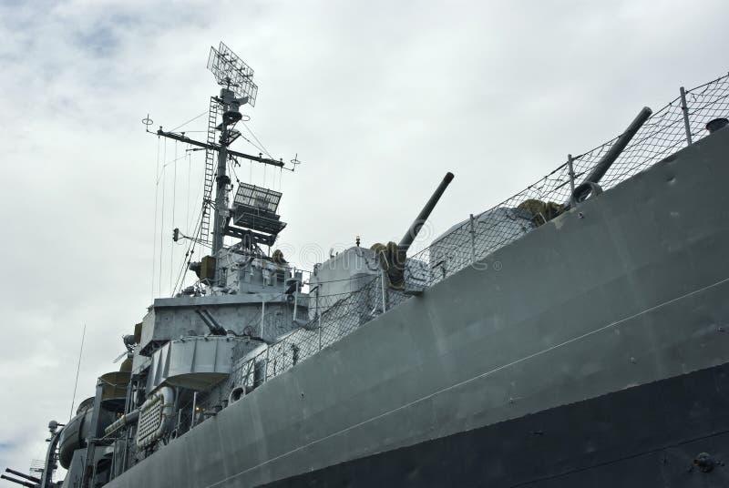 Destructor naval de WWII los E.E.U.U. fotos de archivo libres de regalías