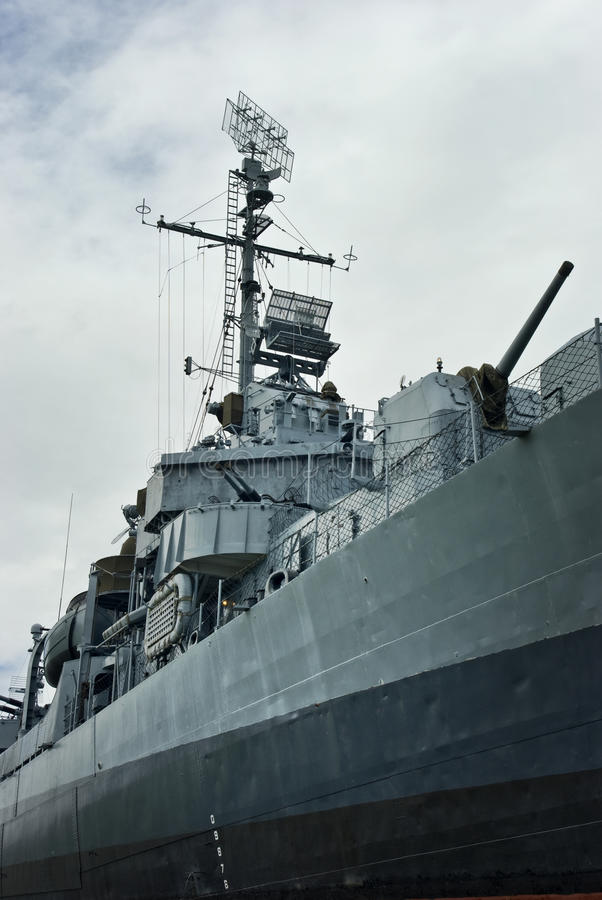 Destructor naval de WWII los E.E.U.U. foto de archivo