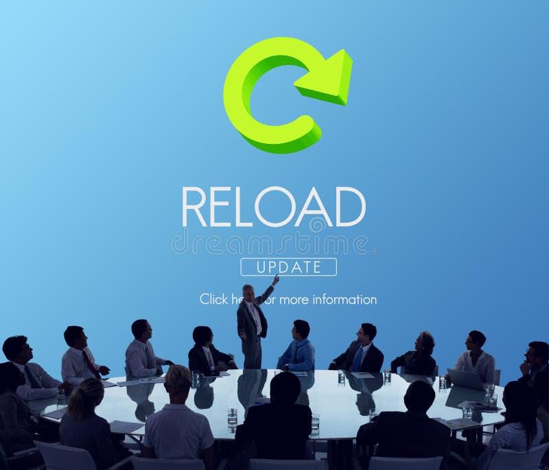 A destruição da funcionalidade do Reload refresca o conceito imagem de stock royalty free