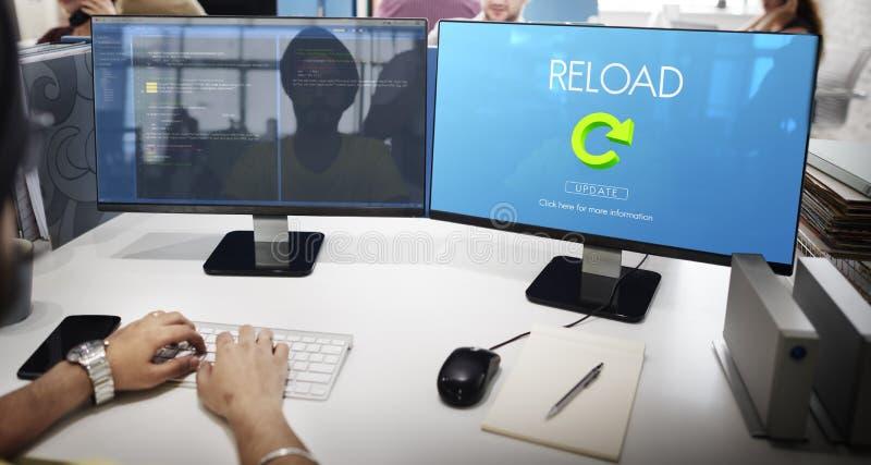 A destruição da funcionalidade do Reload refresca o conceito fotografia de stock royalty free
