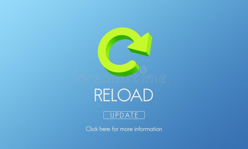 A destruição da funcionalidade do Reload refresca o conceito ilustração do vetor