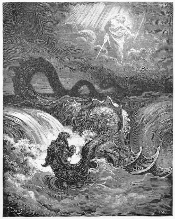 A destruição do Leviathan fotografia de stock royalty free