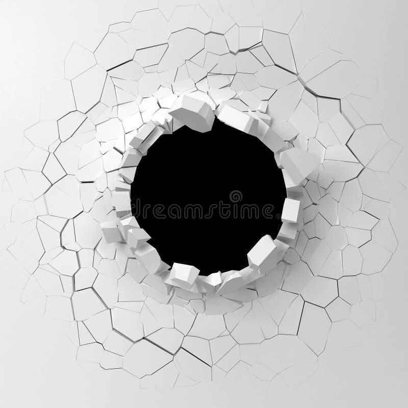Destruição da parede ilustração stock
