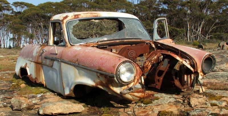 Destruição do carro foto de stock royalty free