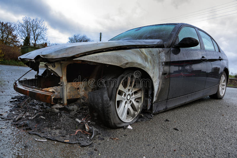 Destruição do carro imagens de stock royalty free