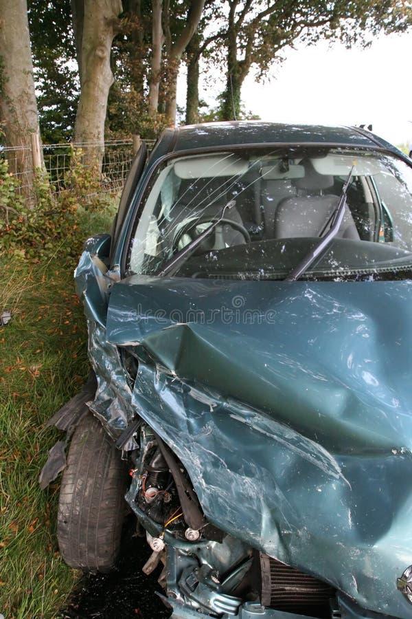 Destruição do carro fotos de stock