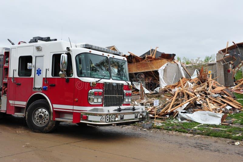 Destruição do furacão fotografia de stock royalty free