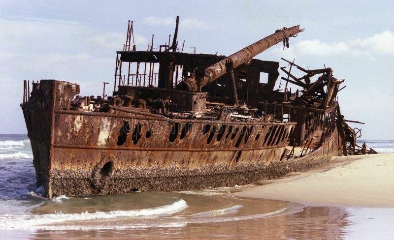Destruição do navio foto de stock royalty free